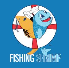 fishing shrimp logo