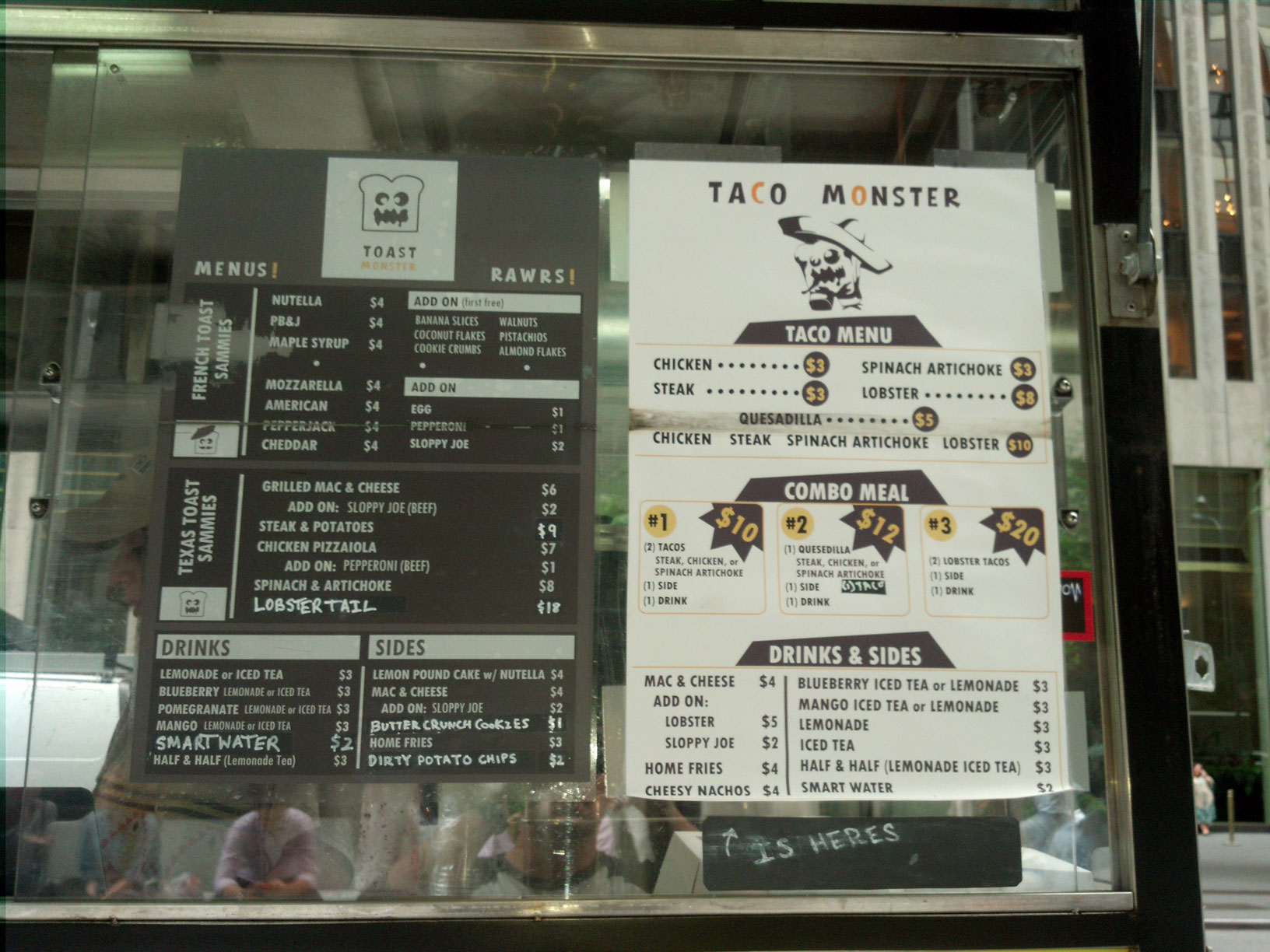 Toast Monster's Enticing Menu