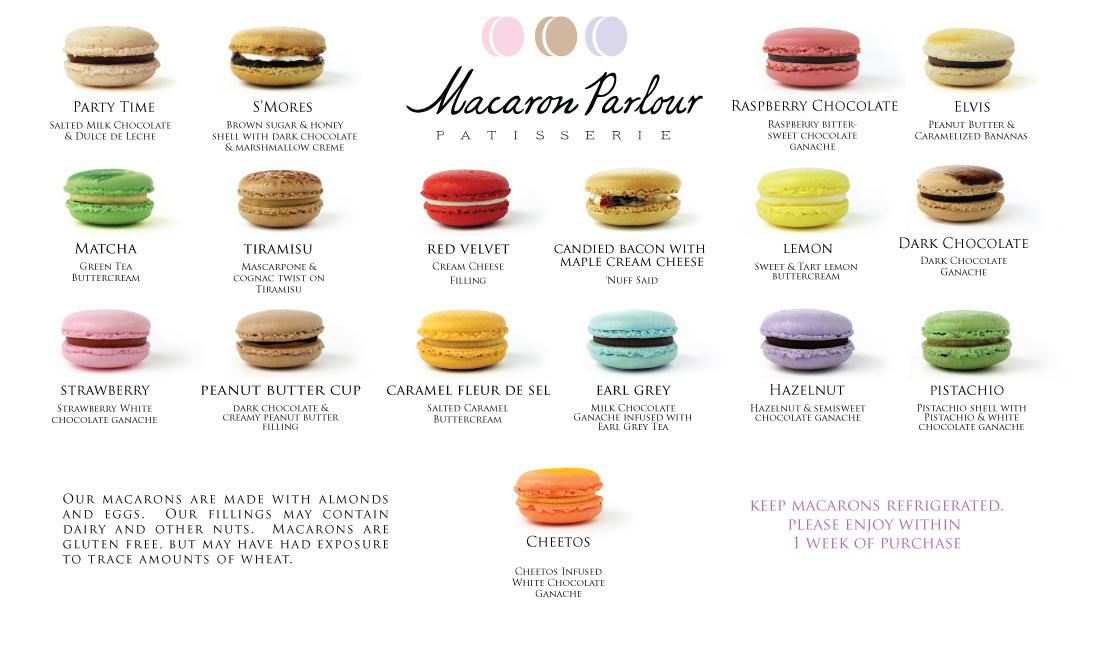 A menu like none other Source: macaronparlour.com
